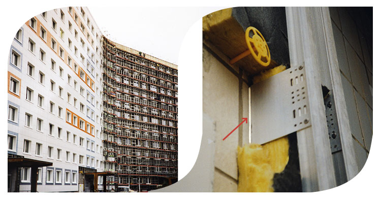 Thermostop als Isolator zwischen Hauswand und UK