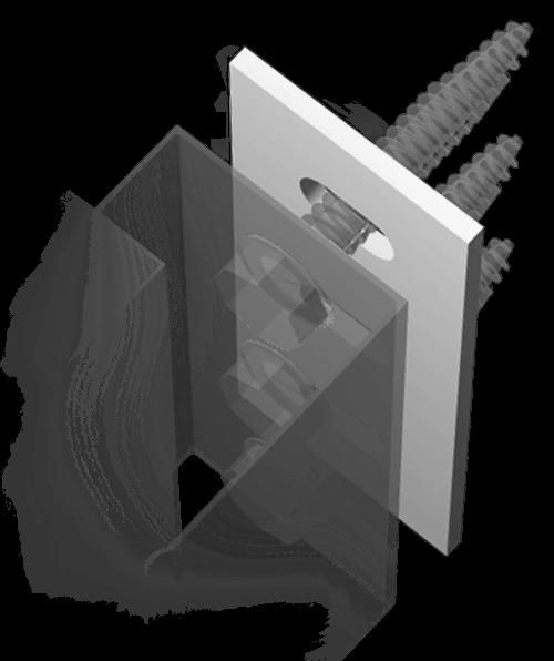 Thermostop als Isolator gegen die Wärmebrücke einer Konsole